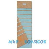 WOMAR Одеяло-плед в полосочку (Хлопок 100) 75х100 см синий / коричневый