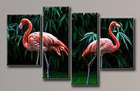 Картина модульная на холсте Фламинго 72*115 см