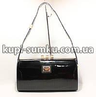 Модная лаковая сумка-клатч для девушки