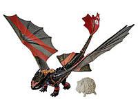 """Игрушка Дракон Беззубик с катапультой на хвосте, в боевой раскраске  - м/ф """"Как приручить дракона"""""""