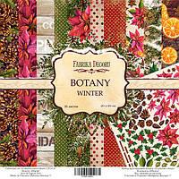 Набор бумаги от Фабрики Декора - Botanica winter, 20x20 см, 10 листов