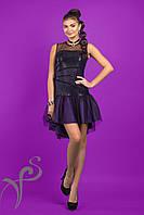 Шикарное вечернее платье с фатином Lilac