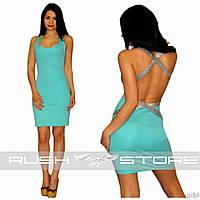 Платье с открытой спиной и пайетками
