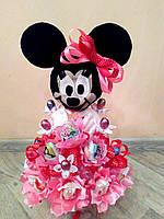 Детский букет из конфет Минни Маус