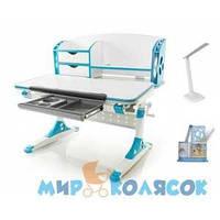 MEALUX Evo-700 WB - столешница белая / накладки синие