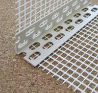 Угол защитный перфорированный ПВХ с сеткой 2,5м