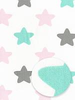 Отрез ткани 100% хлопок - Звездочки для девочек, 30x50 см, 1 шт