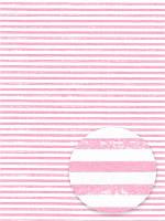 Отрез ткани 100% хлопок - Розовые полосочки состаренные, 40x75 см, 1 шт