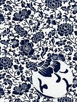 Отрез ткани 100% хлопок - Синие цветочные узоры, 40x75 см, 1 шт