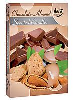 Ароматические свечи таблетки BISPOL Шоколад - миндаль