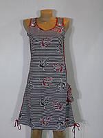 Женская ночная рубашка Батал якорка