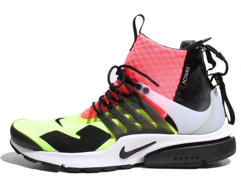 Мужские кроссовки Nike Air Presto Mid Acronym White/Black, Найк Аир Престо