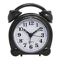 Будильник №8836 часы настольные с подсветкой (черный)