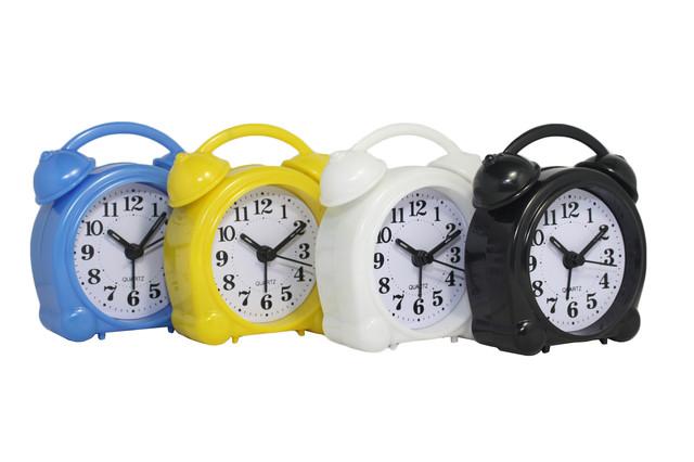 Будильник №8836 часы настольные с подсветкой (желтый)