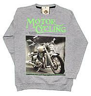 """Батник подростковый """"Motor CYcling"""" из тонкого трикотажа для мальчиков. размеры 9-12 лет"""
