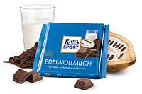 Шоколад Риттер Спорт молочный 35%. Ritter Sport Edel-Vollmilch, 100 г