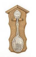 Коллекционная оловянная ложка 1989 год, олово дуб, Германия, фото 1