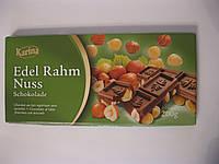 Молочный шоколад. Karina «Edel Rahm Nuss» с цельным лесным орехом, 200 г
