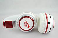 Наушники проводные NK198 NIKE (в коробке)белый\красный