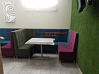 Диван для большого ресторана, кафе Квадро (кабина,секционый)