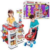 Игровой супермаркет 668-01. касса, продукты, тележка