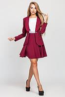 Женский бордовый  костюм  Жанна с юбкой   Leo Pride  42-48 размеры