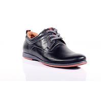 Мужские кожаные туфли  Bastion leather shoes black