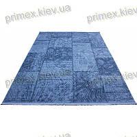 Акриловый рельефный ковер Табоо (Ламинат) цвет синий