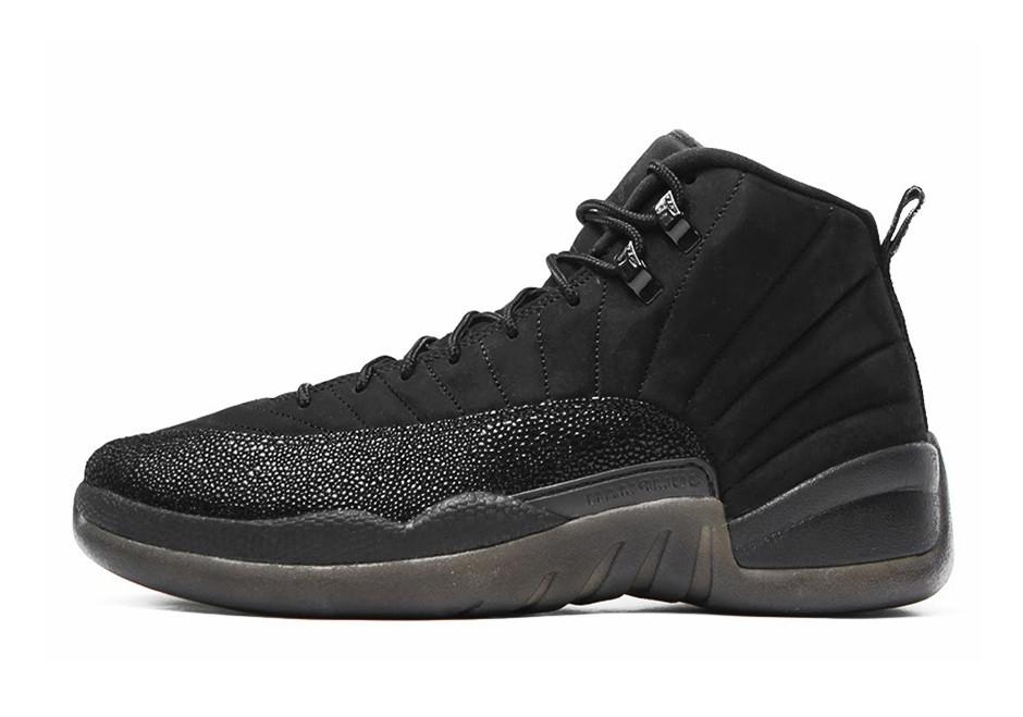 Мужские кроссовки Nike Air Jordan 12 OVO Black 873 864 032, Найк Аир Джордан 12