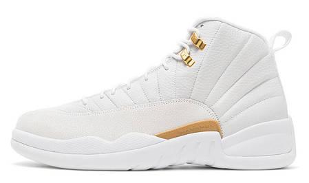 Мужские кроссовки Nike Air Jordan 12 Retro Ovo White, фото 2