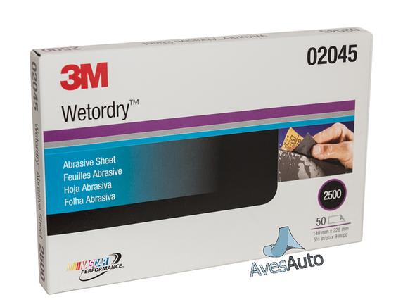 3M 02045 Наждачная водостойкая бумага Wetordry P2500, фото 2