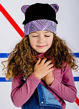 Детская шапка ДЖУН для девочек оптом размер 52-54-56