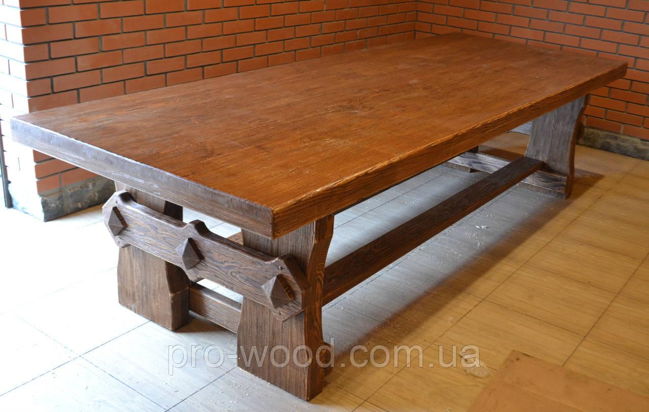 стол из дерева под старину 3 м