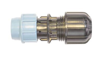 Муфта компрессионая с переходом на метал 25*15/22 Unidelta