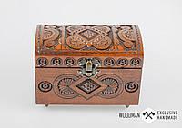 Эксклюзивная шкатулка ручной работы из натурального дерева, шкатулка для украшений