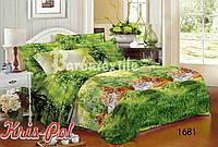Комплект постельного белья 3D семейный, полиэстер. Постільна білизна. (арт.6733)