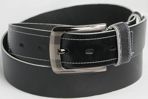 Мужской кожаный ремень под джинсы Skipper 5470 чёрный ДхШ: 128х4,5 см.