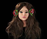 Учебная голова-манекен на штативе 50см. 80% натуральных волос