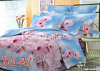 Комплект постельного белья 3D семейный, полиэстер. Постільна білизна. (арт.6753)
