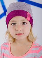 Детская шапка ПАМЕЛА для девочек оптом размер 48-50-52, фото 1