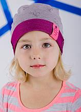 Детская шапка ПАМЕЛА для девочек оптом размер 48-50-52