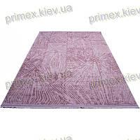 Акриловый рельефный ковер Табоо (Ламинат) цвет розовый