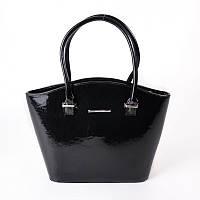 Женская сумка-корзина лаковая фигурная М64