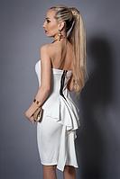 "Платье с балеро,по фигуре,по спинке декор.""бант-хвост"".р. 44-46,46-48 молочное."