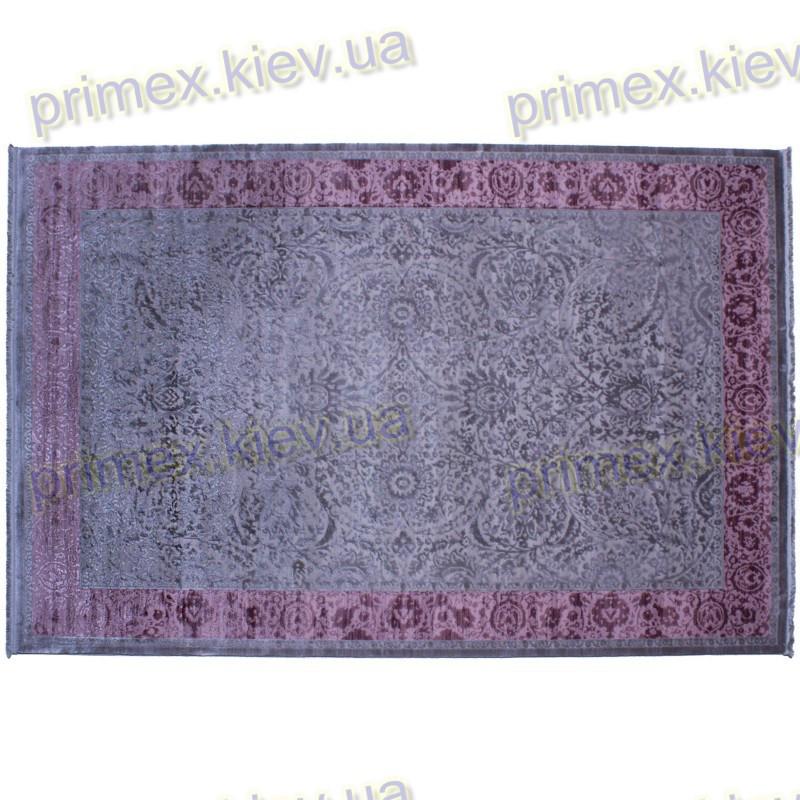 Акриловый рельефный ковер Табоо (Элит) цвет лилово-серый
