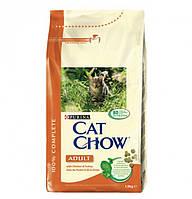 Cat Chow Adult 15 кг-корм для кошек с курицей и индейкой