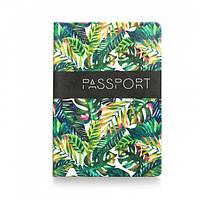 Обложка для паспорта Пальмовые листья