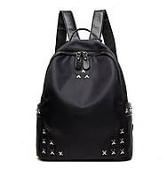 Классический черный рюкзак с крестиками