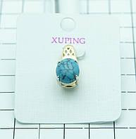 28. Позолоченный кулон с бирюзой Xuping (клетка 1 см)