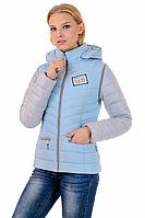 Стильная женская куртка-жилетка 2 в 1 трансформер  01.166
